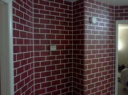 fake brick wall paint