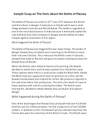 sample essay on the facts about the battle of plassey