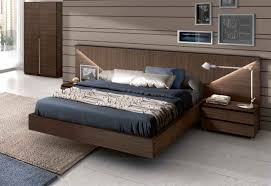 ... Modern Bed Frames Cool Modern Beds Blue Bed Cover And Pillow With  Wooden Bed ...