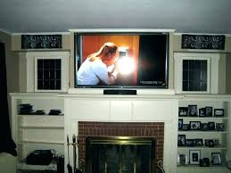 wall mounted tv ideas above fireplace how to hide wires for wall mounted over fireplace mounting