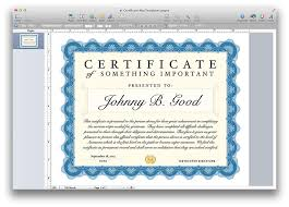 certificate template pages certificate template for pages and pdf mactemplates com