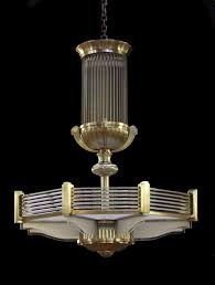 Reproduction Art Deco Light Fixtures Art Deco Chandelier In A Style Similar To That Of Atelier