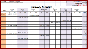 schedule weekly weekly work schedule template
