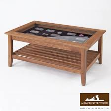 glass top wood coffee table amish lancaster glass top coffee table amish furniture shipshewana furnitures co