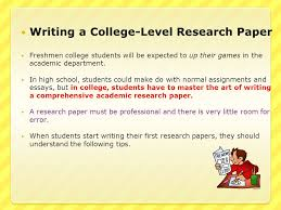 initial student reaction to the words ldquo research paper rdquo were ppt writing a college level research paper