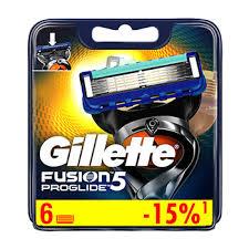 <b>Cменные</b> кассеты для бритья <b>GILLETTE FUSION</b> Male <b>Blades</b> ...
