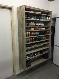 Marvelous Wall Mounted Shoe Rack Best Ideas For Shoe Storage Rack: Natural  Distressed DIY Wall