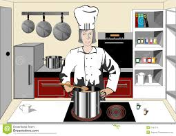 Chef Kitchen Chef In The Kitchen Stock Image Image 2141711