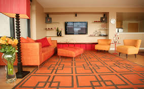orange and yellow living room decor. red, red-orange, orange and yellow living room decor e