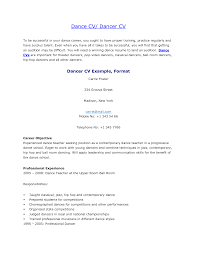 Examples Of Resumes And Cover Letters Dance resume example sample resumes cv cover letter recent 71