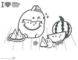 Printable Pusheen Coloring Pages Design Templates