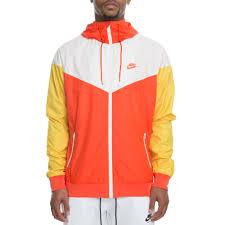 Mens Nike Windrunner Jacket Team Orange Sail