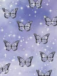 Blue Butterfly Aesthetic Wallpaper