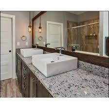 cotton white granite bathroom countertops