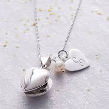 locket size photos heart locket with birthstone by claudette worters