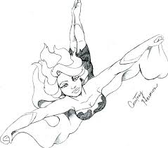 Superhero Body Template Full Size Of To Draw A Girl Easy As Well How
