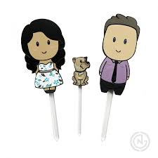 Wedding Cake Topper Pet Dog Laser Cut Cute Toppers Custom