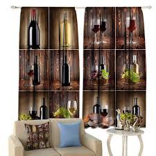Wood Window Screen Designs Amazon Com Hualidecor Classic Wine Lihgtproof Curtains