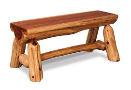 log rustic furniture amish. Amish Rustic Cedar Half Log Bench Furniture O