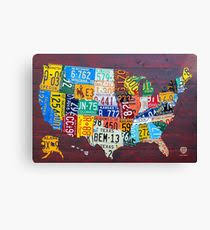 license plate map of the united states 2012 edition 3 canvas print on license plate map wall art with license plate map wall art redbubble