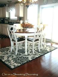 what size area rug for round dining table carpet under large of mat dini