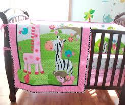 giraffe baby bedding sets pink cotton embroidery bird flowers zebra giraffe baby bedding set quilt per giraffe baby bedding