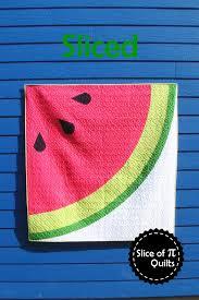 Slice of Pi Quilts: Sliced & Sliced modern watermelon quilt pattern by Slice of Pi Quilts Adamdwight.com