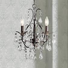 castlewood walnut silver finish 3 light mini chandelier