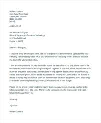 It Consultant Cover Letters 10 Consulting Cover Letter Templates Example Free Premium Templates