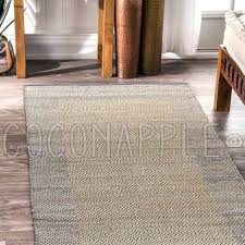 aditya hand woven blue jute denim natural rug runner 2 sizes free delivery