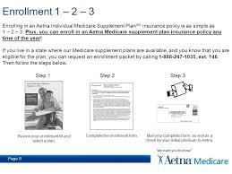 page 8 enrollment 1 2 3 enrolling in an aetna individual care supplement plan