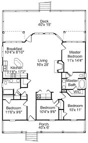Beautiful Open Floor Plan  22312DR  Architectural Designs Beach Cottage Floor Plans