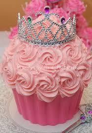 Princess Cupcake Cake With Tiara For Princess Baby Shower Or