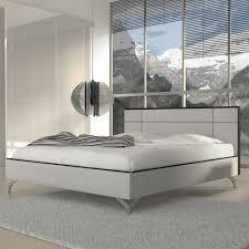 Schlafzimmer Bett Grayna In Weiß Schwarz Wohnende