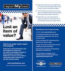 My Report Promotional Resources Report My Loss Uk