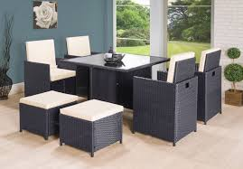 rattan outdoor garden furniture cube