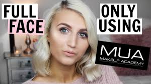 full face only using mua makeup testing makeup