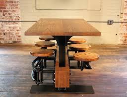 Vintage Industrial Mid Century Modern Style Oak Dining Kitchen
