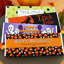 personalized chocolate bar wrappers personalized halloween hersheys 1 5 oz candy bar wrappers