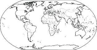 Printable World Map Coloring Page At Getcoloringscom Free