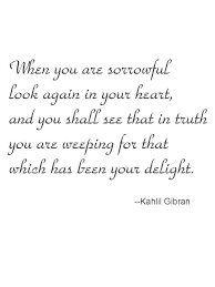 Kahlil Gibran Quotes Interesting You Are Weeping For That Which Has Been Your Delight Kahlil