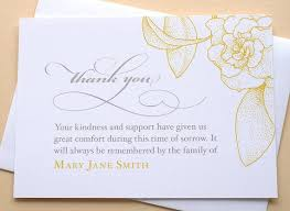 Personalized Sympathy Thank You Cards English Or Spanish Sympathy Thank You Cards With A Big Yellow Etsy