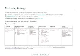 Email Marketing Plan Template Marketing Plan For A Service Business