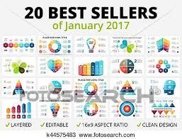 Vector Best Infographics Set Business Diagrams Arrows