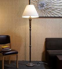 off white fabric floor lamp by craftter