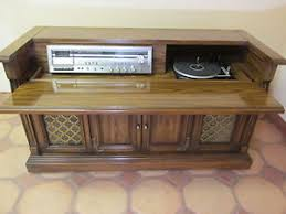 Vintage Magnavox Console Stereo Record Player Cassette Player Wood ...