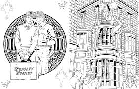 Small Picture Diagon Alley Coloring PagesAlleyPrintable Coloring Pages Free
