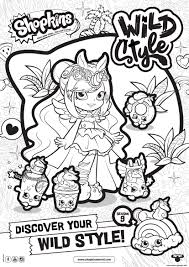 Shopkins Season 9 Wild Style 5 Coloring Pages Printable