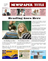 Newspaper First Page Template Free Newspaper Templates Print And Digital Makemynewspaper Com