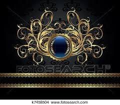 clipart gold vintage frame for design packing fotosearch search clip art illustration s21 design